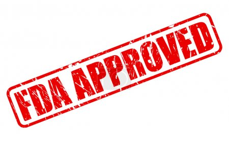 FDA Approved red stamp text on white...