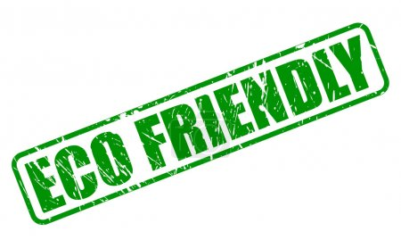 Eco friendly green stamp text