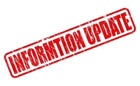 Information update red stamp text