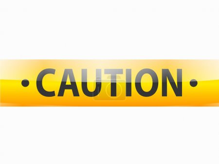 Caution text on yellow tapes