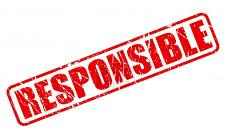 Responsible red stamp text