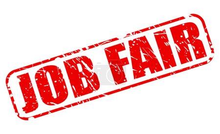 Job Fair red stamp text