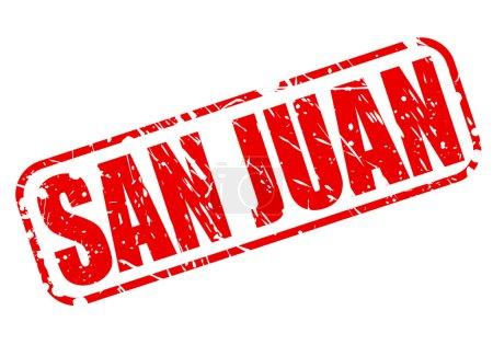 SAN JUAN red stamp text