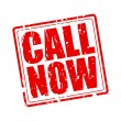 CALL Now red stamp text on white...