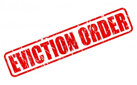 EVICTION ORDER red stamp text