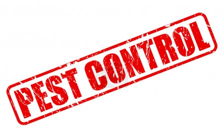 PEST CONTROL red stamp text