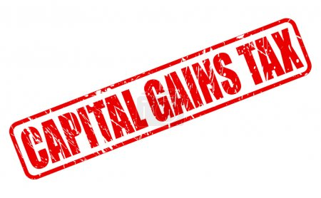 CAPITAL GAINS TAX red stamp text