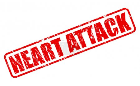 Heart Attack red stamp text