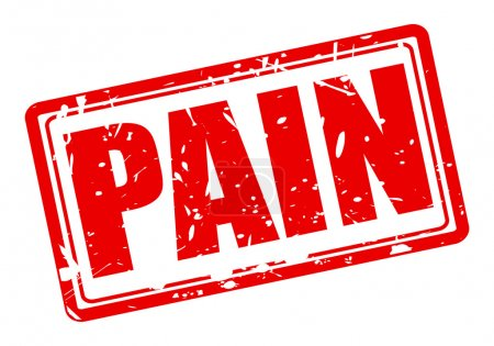 PAIN red stamp text