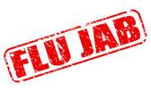 FLU JAB red stamp text