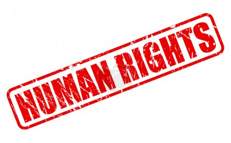 HUMAN RIGHTS red stamp text