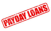 PAYDAY LOANS red stamp text