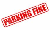 PARKING FINE red stamp text