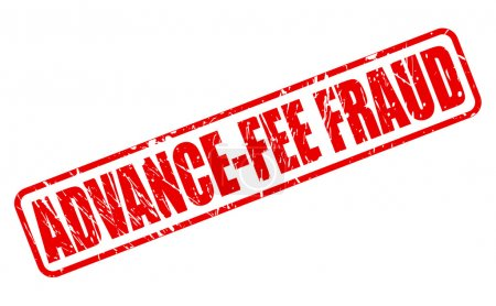 ADVANCE-FEE FRAUD red stamp text