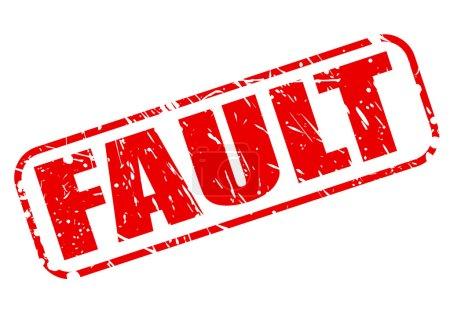 Illustration pour Texte de cachet rouge faute sur blanc - image libre de droit