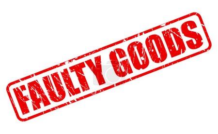 Illustration pour Texte de cachet rouge marchandises défectueuse sur blanc - image libre de droit