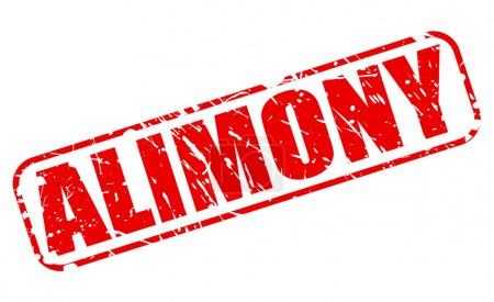 ALIMONY red stamp text