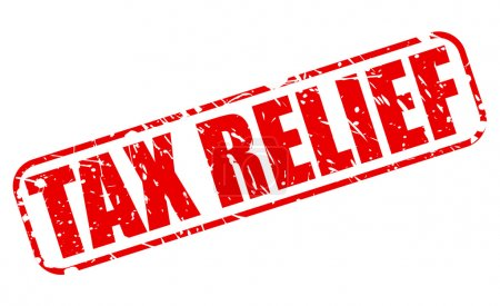 TAX RELIEF red stamp text