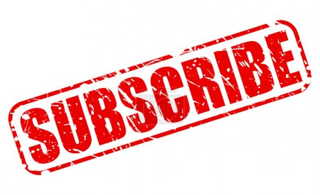 SUBSCRIBE red stamp text