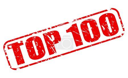 Illustration pour TOP 100 timbre rouge texte sur blanc - image libre de droit