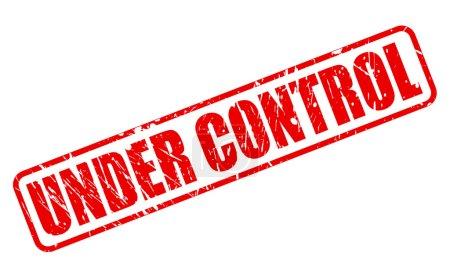 Illustration pour En vertu du texte du contrôle cachet rouge sur blanc - image libre de droit