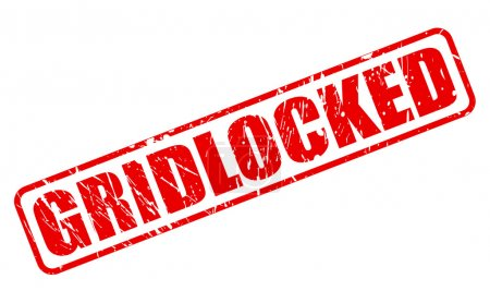 GRIDLOCKED red stamp text