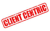 Client Centric red stamp text