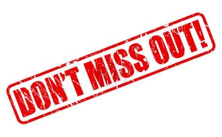 Illustration for DONT MISS OUT red stamp text on white - Royalty Free Image