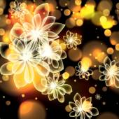Colorful summer spring glowing flowers background