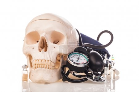 human scull medicines and drugs
