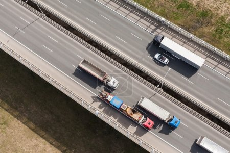 Six lane highway in Poland