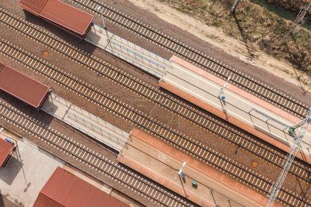 Railway tracks in Poland