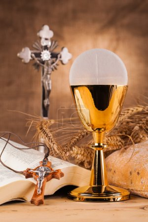 Crucifix  and holy communion