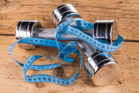 Fitness equipment and measure tape