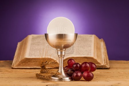 Holy communion and grapes