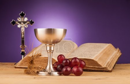 Holy communion corn and grapes