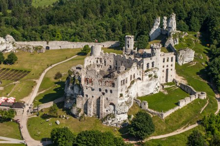 Aerial view of Pilica castle