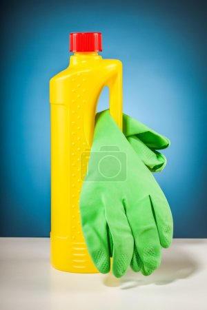 Rubber gloves colorful cleaning equipment