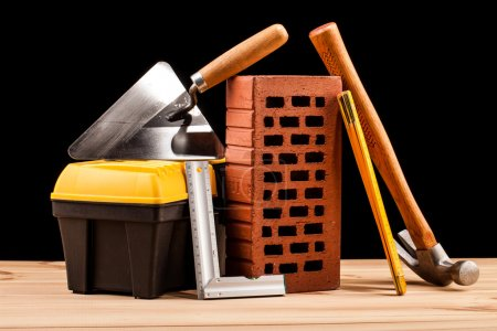 Builder tools on black background