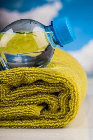 Fitness water and towel