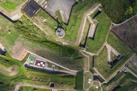aerial view of  the Klodzko city historic fortress