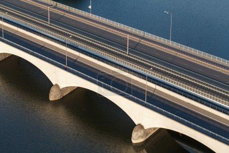 aerial view of the bridge