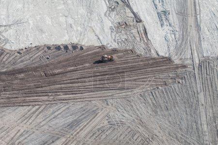 Photo pour Vue aérienne de la mine de charbon en pologne - image libre de droit