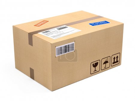 Cardboard box package parcel