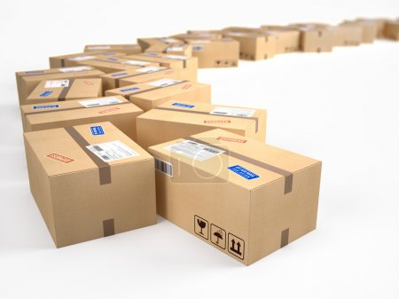 Cardboard boxes package parcels