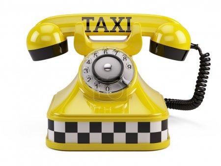 Call taxi service concept