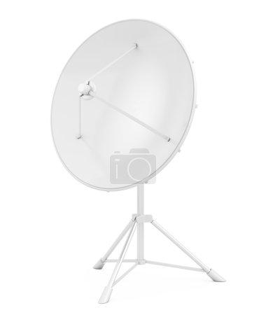 Satellite dish isolated on white