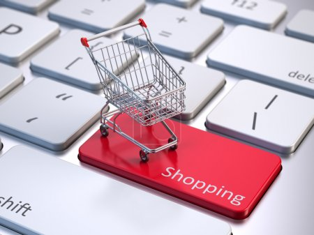 Photo for Online shopping concept - Royalty Free Image