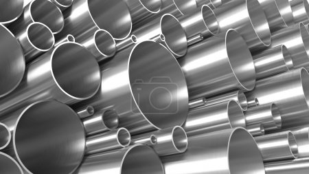 Photo for Metal Pipes Texture - Royalty Free Image