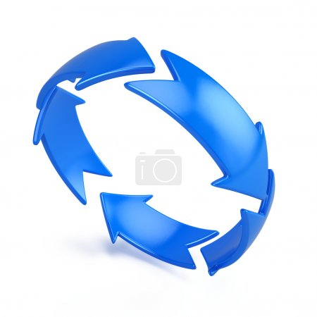 Photo for 3d diagramm of arrow circle, 3d illustration - Royalty Free Image